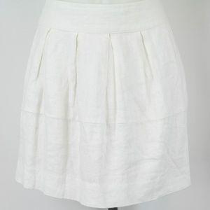Island Company White Pleated Boheme Skirt Size 4